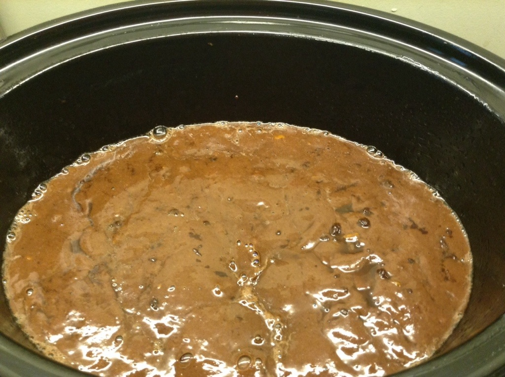 Slow Cooker Self-saucing Chocolate Orange Pudding