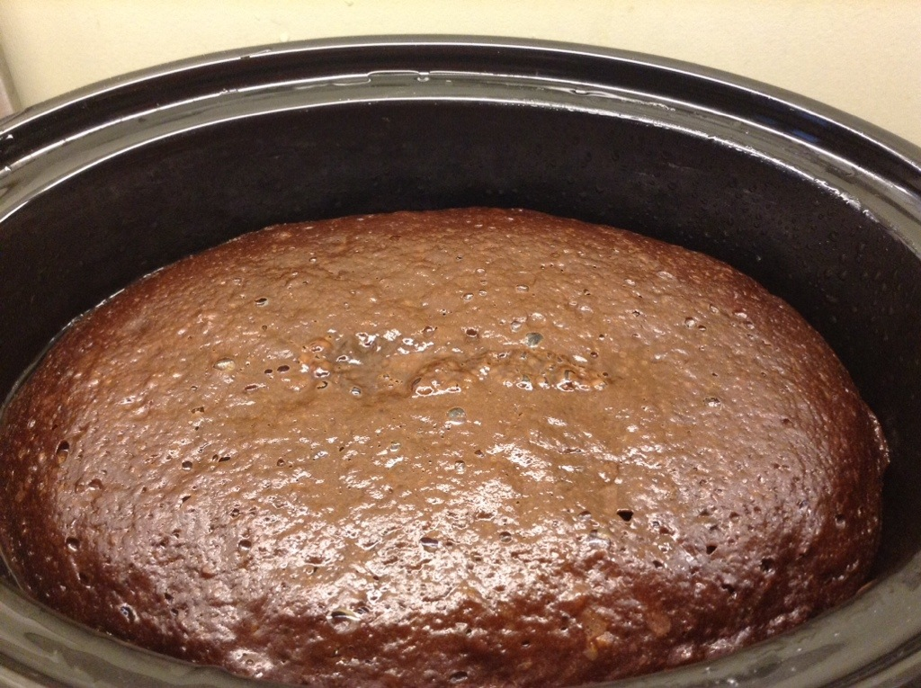 Slow Cooker Self-saucing Chocolate Orange Pudding - BakingQueen74